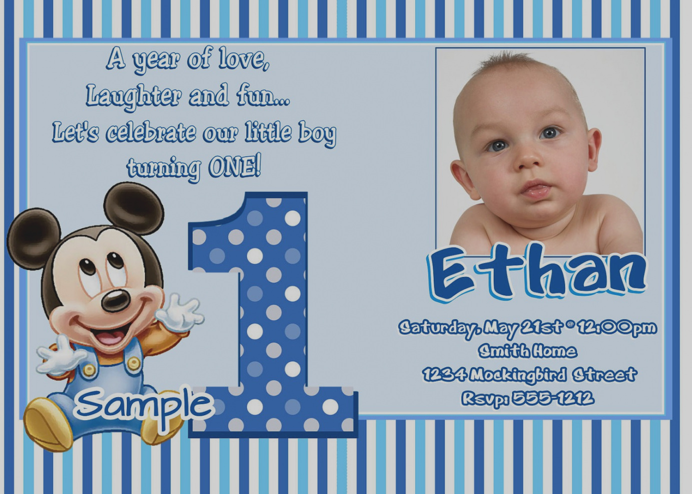 baby first birthday invitation templates free ; elegant-baby-first-birthday-invitation-templates-free-cloudinvitation-com