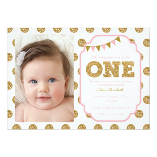 baby girl 1st birthday photo frame ; pink-and-gold-1st-birthday-invitation_st-birthday-invitations-on-baby-boy-first-birthday-invitation-quotes-linegardmed