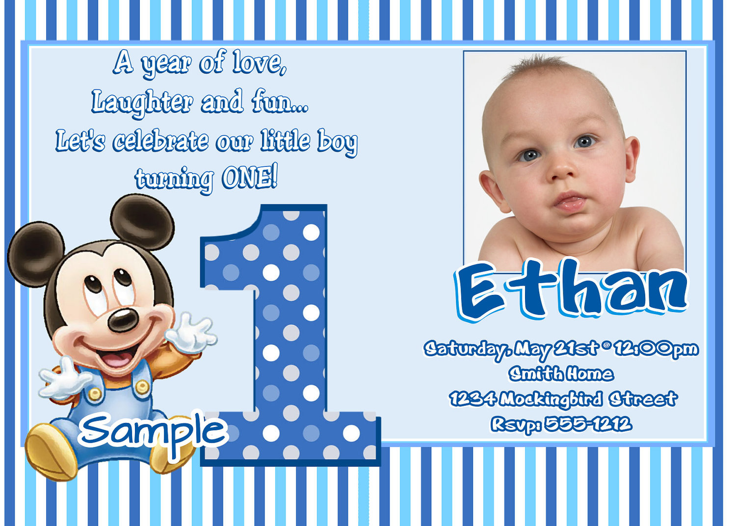 baby's first birthday card ideas ; Excellent-Baby-Boy-First-Cute-Babys-First-Birthday-Card