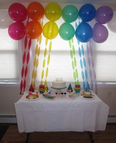 background decoration for birthday party at home ; a1711c3874508487d828079f0dcac6d4--rainbow-party-decorations-rainbow-parties