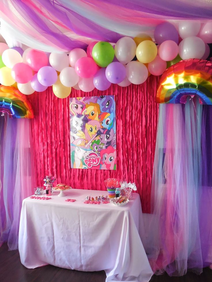 background decoration for birthday party at home ; db97e72b64e4c471a2cfef7622b5a7b3--pony-birthday-parties-birthday-party-decorations