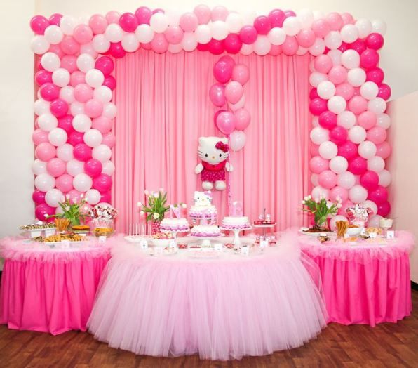 background decoration for birthday party at home ; gorgeous-minnie-mouse-1st-birthday-background-according-cool-article