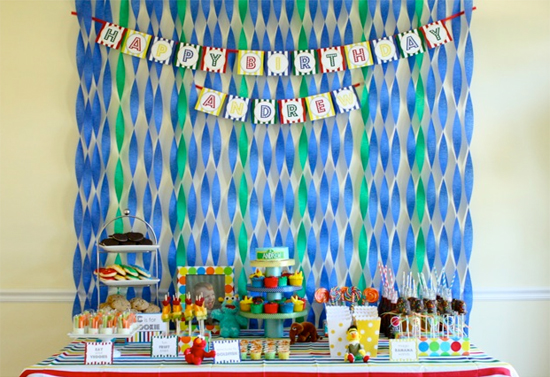 background decoration for birthday party at home ; partydecorations9
