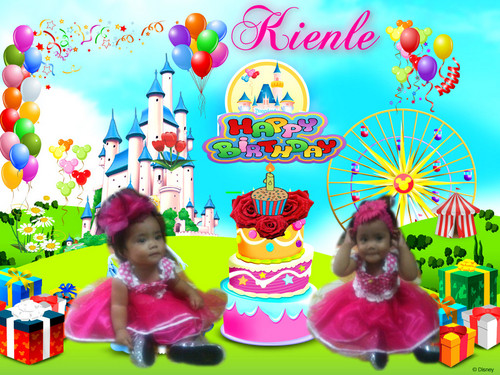 background for 1st birthday ; 1st-BIRTHDAY-cinderella-35192766-500-375