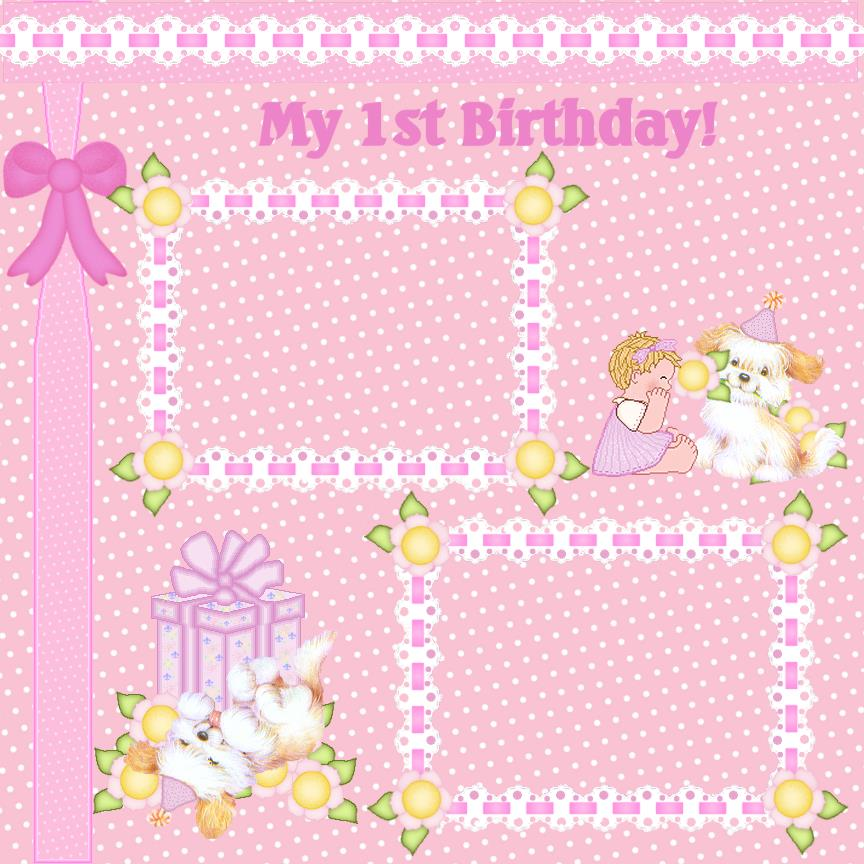 background for 1st birthday ; Birthday_girl_a