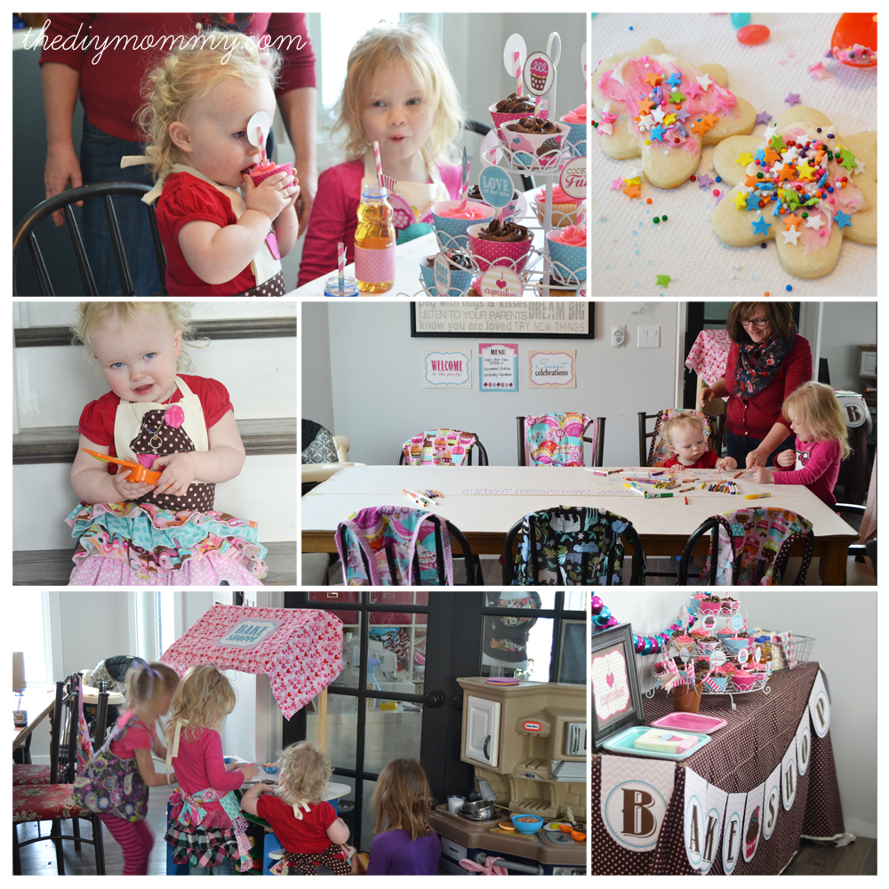 baking birthday party activities ; Bake-Shop-Party-The-DIY-Mommy