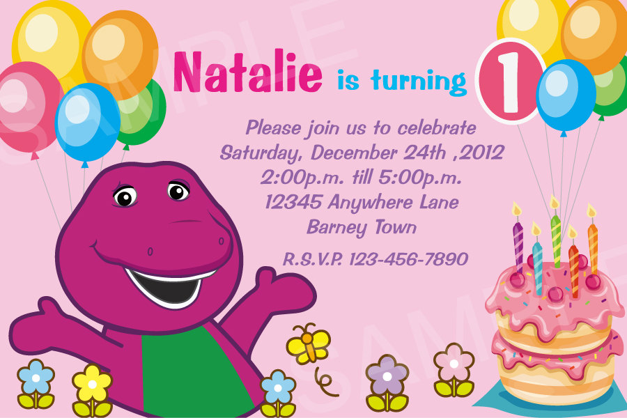 barney birthday card template ; barney-birthday-party-invitations-is-the-newest-and-best-concepts-of-extraordinary-Party-invitations-6