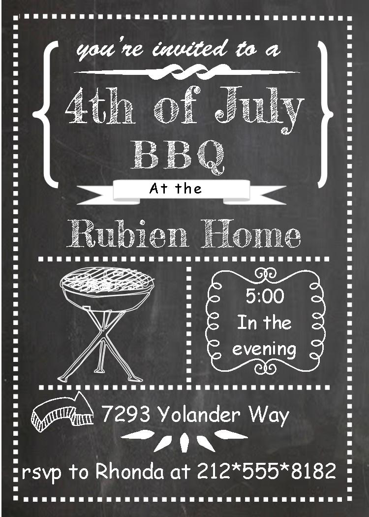 bbq birthday party invitation templates ; 4th-of-july-party-invitations-1968-chalkboard-bbq_th-of-july-party-and-patriotic-invitations-for-new-selections-on-photos-of-cookout-invitation-template-party-cookou