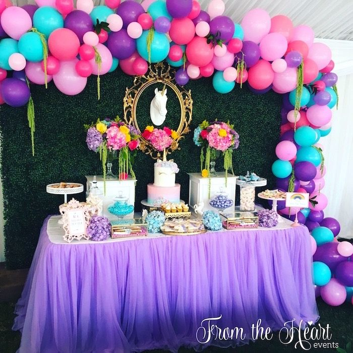 bday decoration ideas ; 4dd2fe2915a1b01406b94327fbfe9c9f--unicorn-birthday-parties-princess-unicorn-birthday