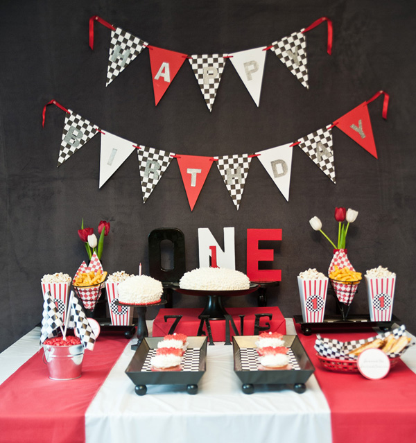 bday themes ; race-car-first-birthday-party