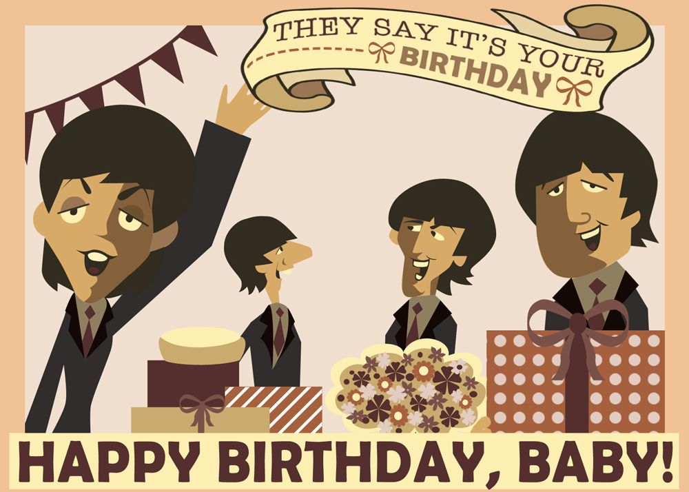 beatles today is your birthday card ; 3bc10737c833a007a4e3c5d09894c0d7