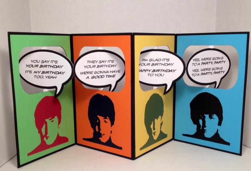 beatles today is your birthday card ; 87ab594f2c240f0a7f3a79825d5a7b39