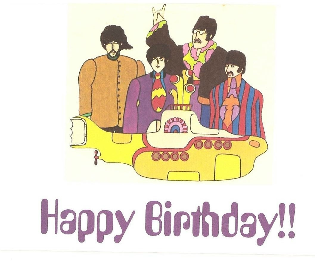 beatles today is your birthday card ; beatles-birthday-card-best-of-the-beatles-yellow-submarine-birthday-card-of-beatles-birthday-card