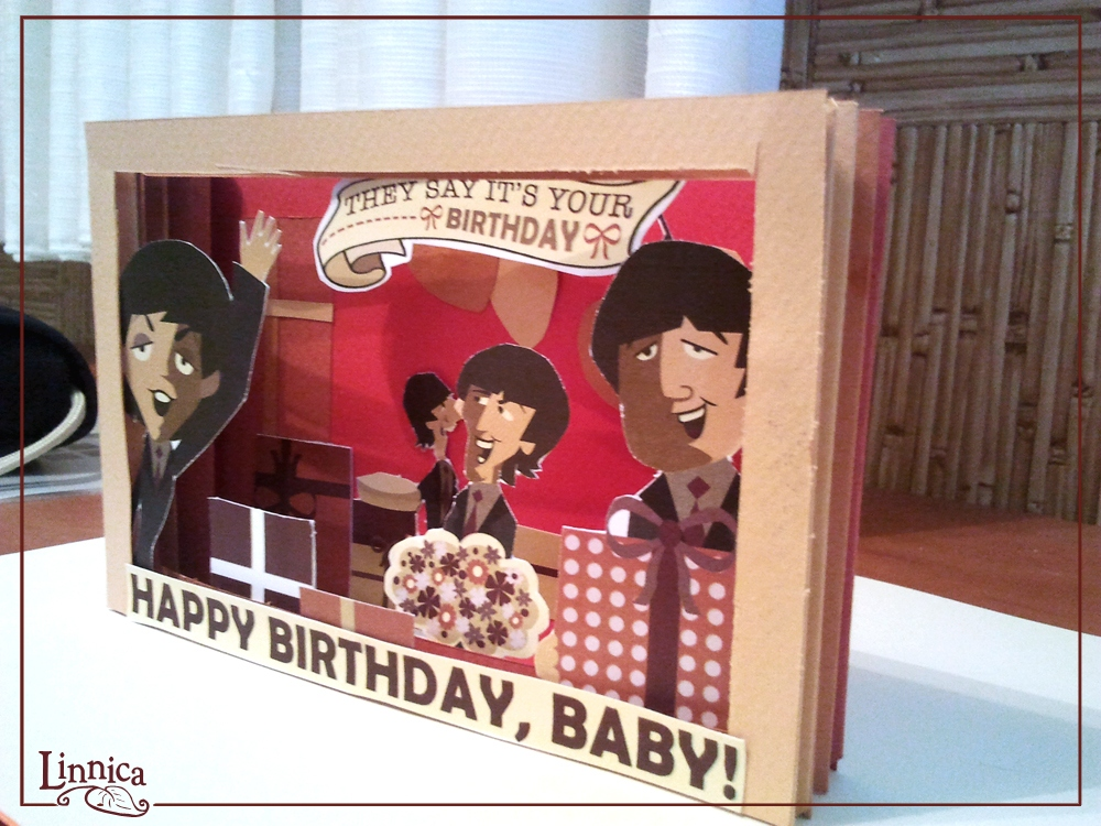 beatles today is your birthday card ; beatles-birthday-card-elegant-linnica-a-3d-beatles-birthday-card-of-beatles-birthday-card