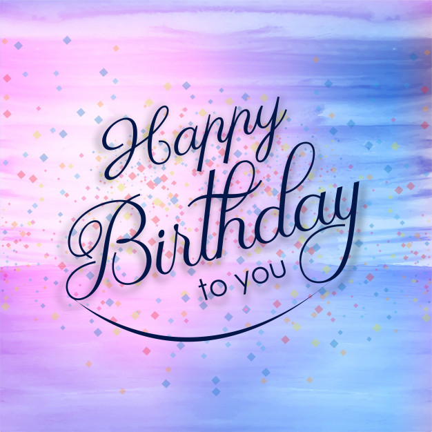 beautiful happy birthday cards ; beautiful-happy-birthday-card-colorful-watercolor-background_1035-12751