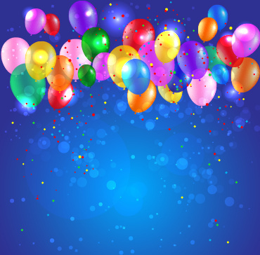 best birthday background ; colored_confetti_with_happy_birthday_background_vector_545063