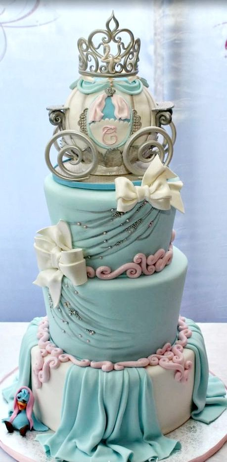 big birthday cake photo ; cinderellas-carriage-beautiful-birthday-cake-images
