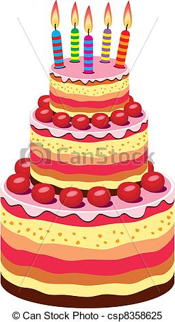 big birthday cake photo ; vector-big-birthday-cake-clipart-vector_csp8358625