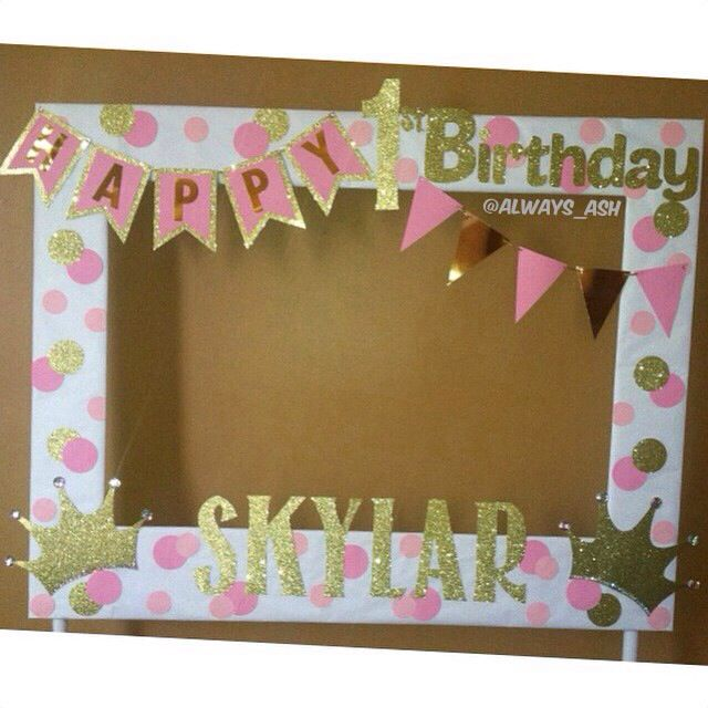 big picture frames for birthday parties ; 3b940de72fdce456e67910f0c4d42584--st-birthday-parties-baby-birthday
