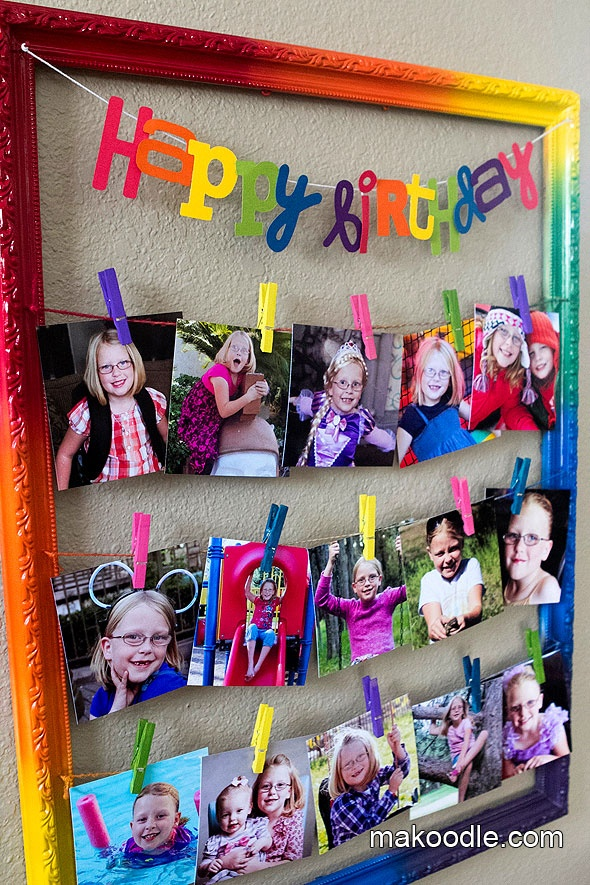 big picture frames for birthday parties ; c923eadd0dfcdb3c1e3fd73de881ee4d--birthday-diy-rainbow-birthday-banner