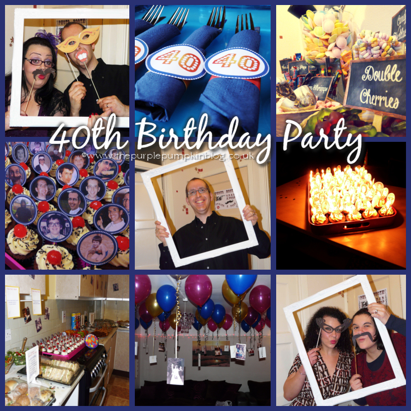 birthday activity ideas for husband ; 40th-birthday-party-mosaic