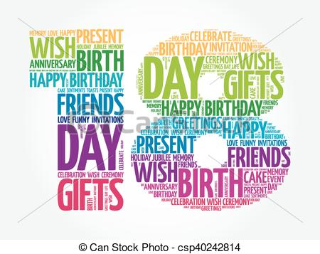 birthday artwork ; happy-18th-birthday-word-cloud-vector-clip-art_csp40242814