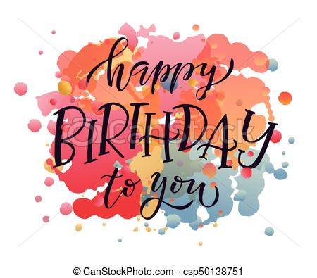birthday artwork ; happy-birthday-text-as-birthday-clipart-vector_csp50138751