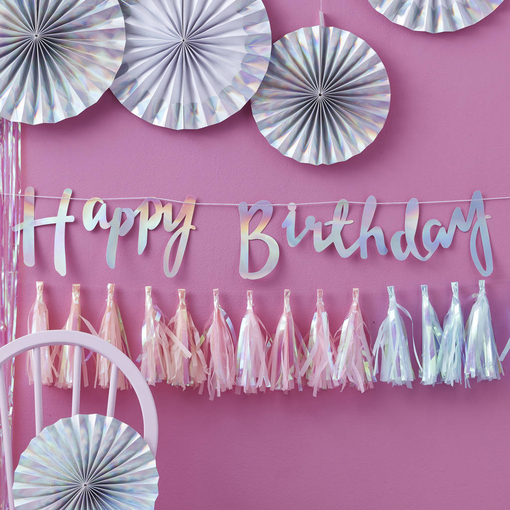 birthday backdrop images ; original_iridescent-foiled-happy-birthday-bunting-backdrop