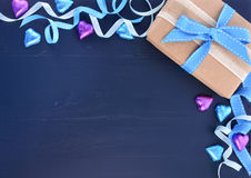 birthday background for male ; fathers-day-background-happy-dark-blue-distressed-wood-table-decorated-borders-71153301