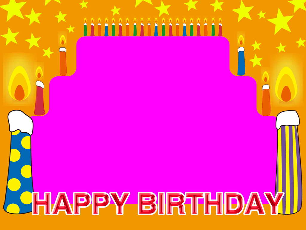 birthday background powerpoint ; happy-birthday-frame-candles-stars-backgrounds-wallpapers