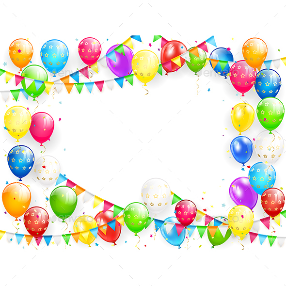 birthday balloons ; Birthday%2520balloons%2520and%2520multicolored%2520confetti%2520on%2520white%2520background%25201