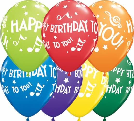 birthday balloons ; birthday-music-notes-11-inch-balloons-25pcs-23134-p