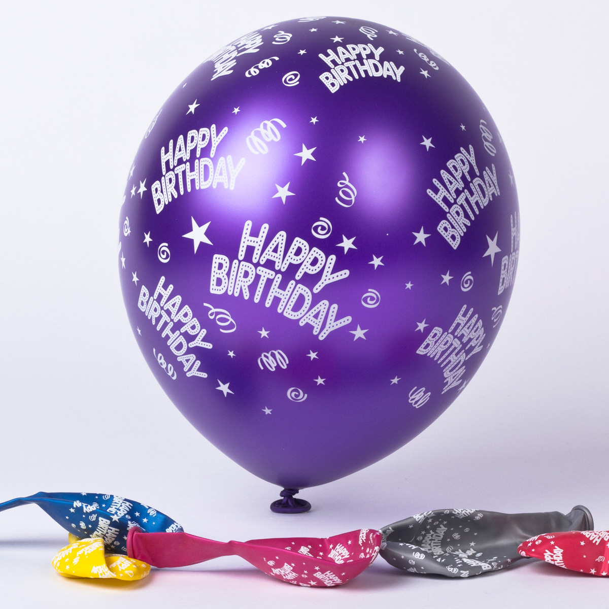 birthday balloons card factory ; multicoloured-happy-birthday-latex-balloons-pack-of-6-_a