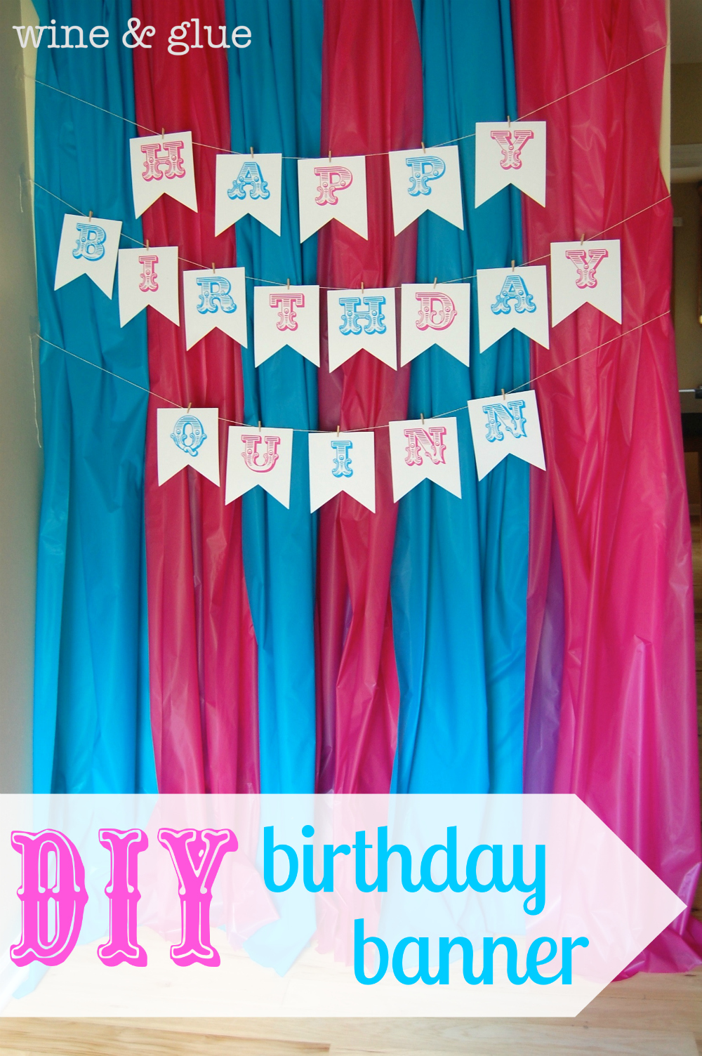 birthday banners software ; diy_birthday_banner