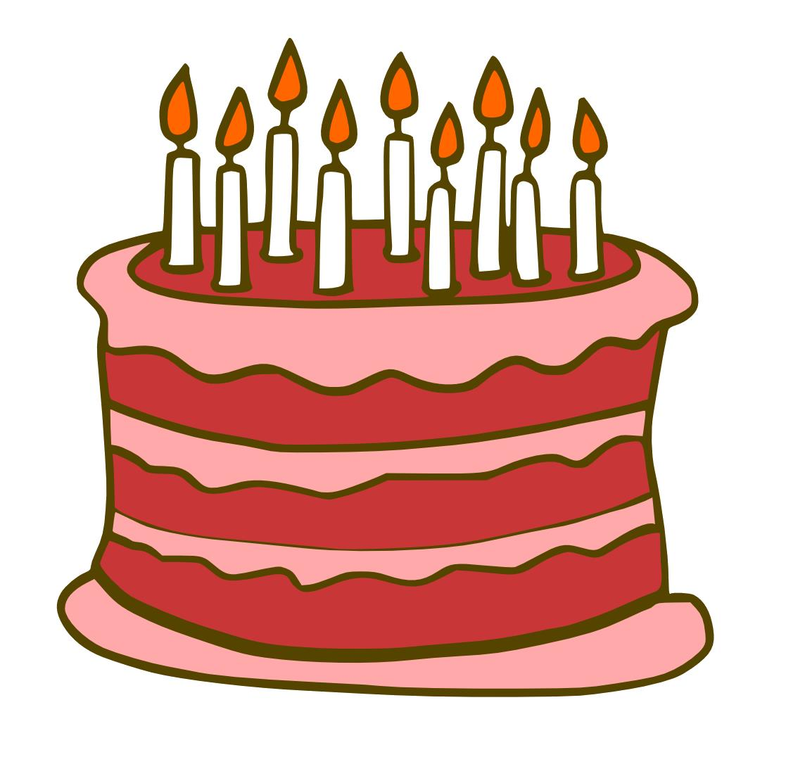 birthday cake clip art png ; Birthday-Cake-Free-Download-PNG