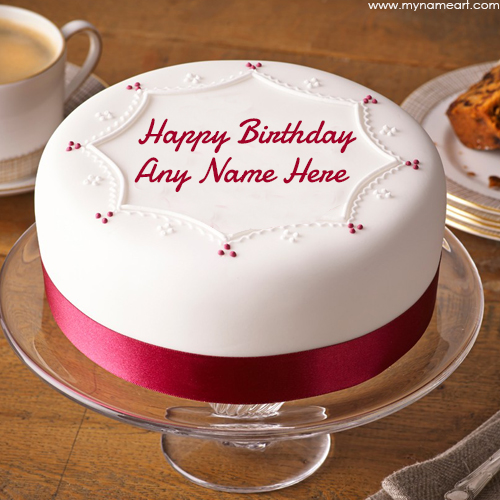 birthday cake create name image ; soft-iced-happy-birthday-name-cake