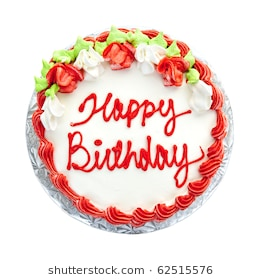 birthday cake with photo on top ; birthday-cake-writing-above-isolated-260nw-62515576
