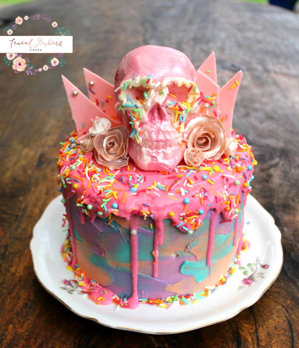 birthday cake with picture on top ; super-cool-ideas-skull-birthday-cake-top-cakes-cakecentral-com