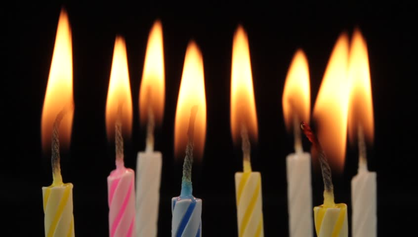 birthday candle transparent background ; 1