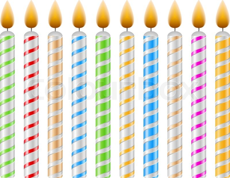 birthday candle transparent background ; 4194217-birthday-candles