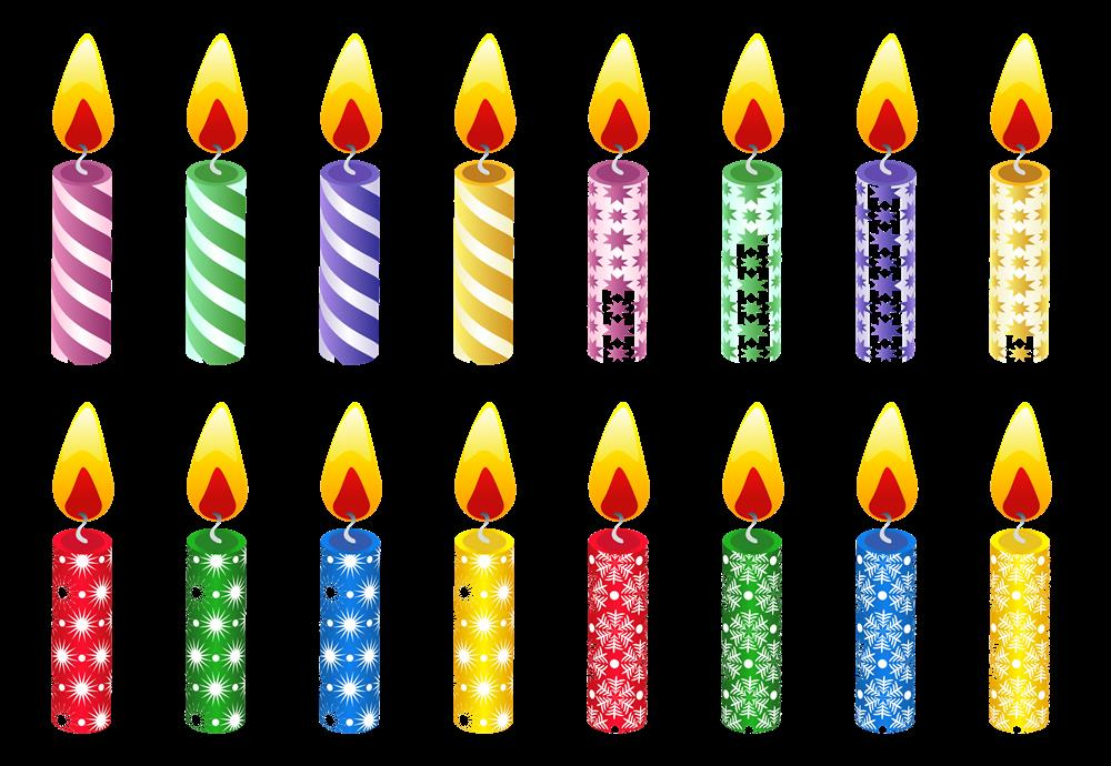 birthday candle transparent background ; BirtHDay-Candles-PNG-HD