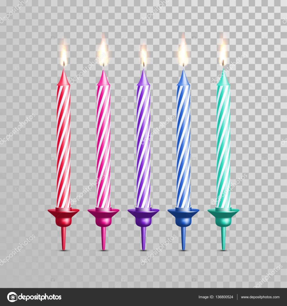 birthday candle transparent background ; depositphotos_136800524-stock-illustration-birthday-cake-candles-color-vector
