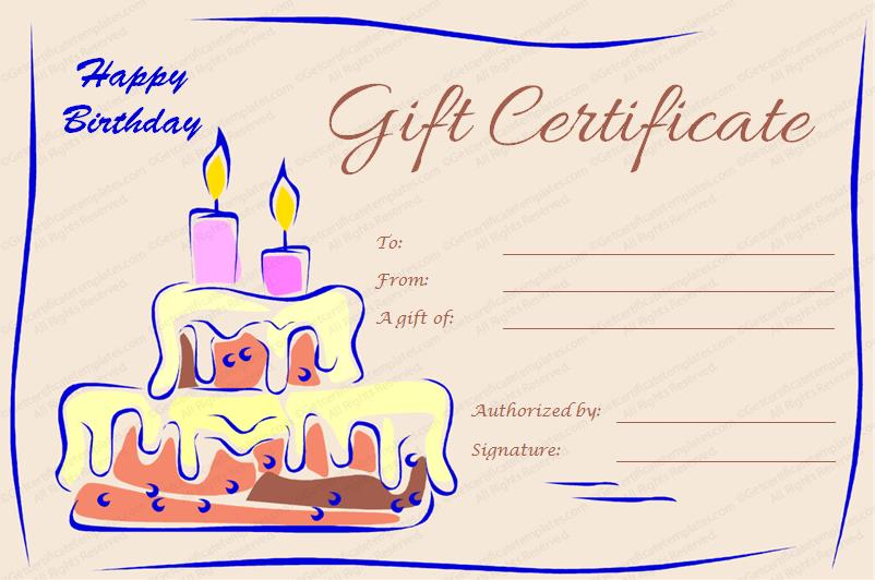 birthday card and gift voucher ; Candles-and-Cake-Birthday-Gift-Certificate-Preview