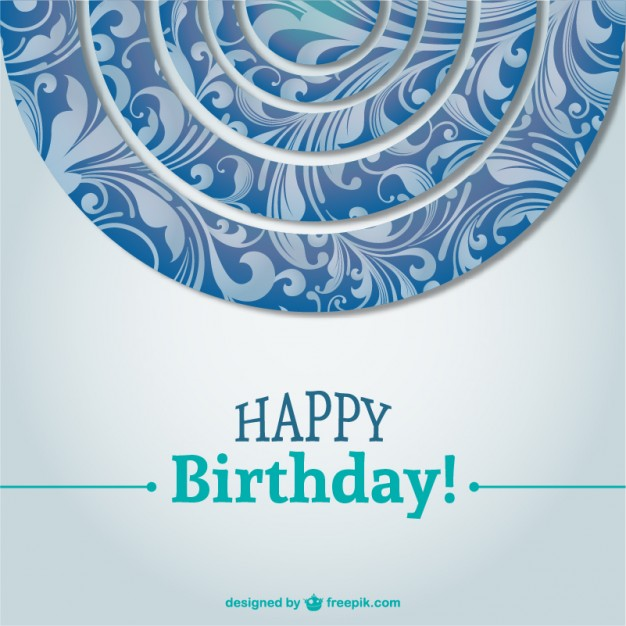 birthday card background design ; beautiful-birthday-card-background-vector_23-2147497638