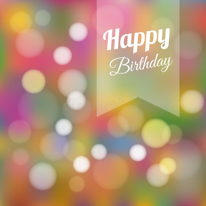 birthday card background design ; birthday-card-invitation-background-cute-colorful-lights-retro-design-illustration-38793562