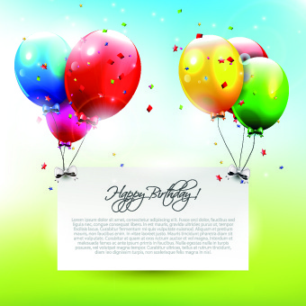 birthday card background design ; colorful_balloons_happy_birthday_greeting_cards_background_536383
