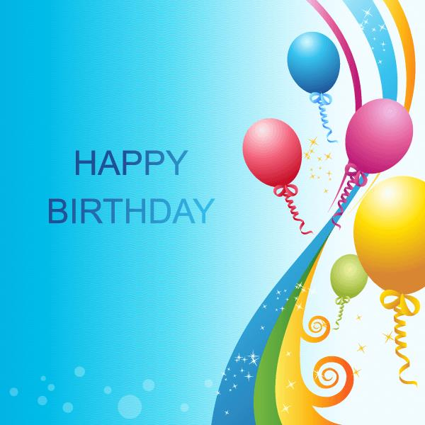 birthday card background design ; happy-birthday-background-vector-template-32242