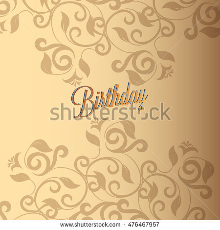 birthday card background design ; stock-vector-happy-birthday-card-and-background-design-476467957