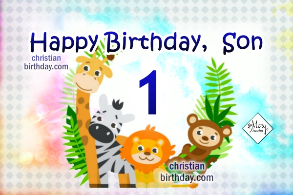 birthday card for 2 year old son ; birthday%252Bchristian%252Bwishes%252Blittle%252Bboy%252Bson%252B1%252Byear%252Bold