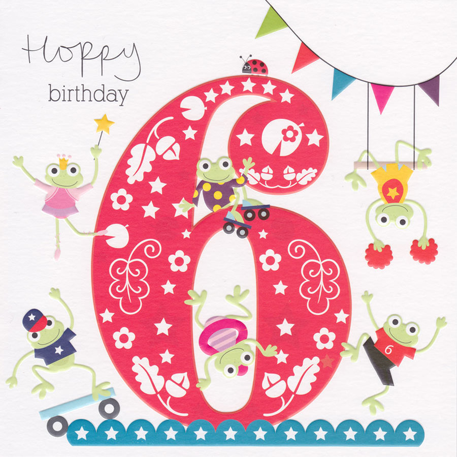 birthday card for 6 year old granddaughter ; 6-birthday-card-cherry-on-top-age-6-birthday-card-6th-48939